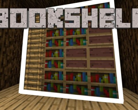 how to make a bookshelf in minecraft
